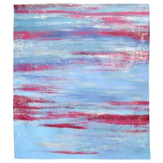 Blue Beach Horizon Acrylic Painting by Alaina