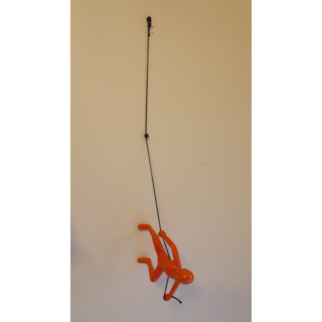 Orange Exclusive Position Climbing Man Wall Art - Image 4 of 4