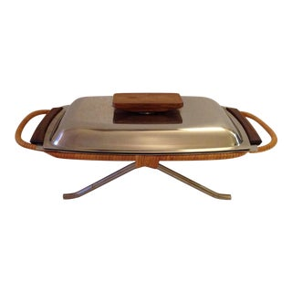 Danish Modern Stainless Steel Serving Dish
