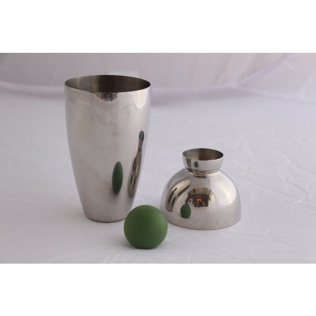 Stainless Cocktail Shaker With Rubber Ball Stopper - Image 3 of 5