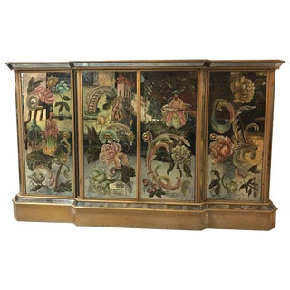 Italian Reverse Paint Decorated Hollywood Regency Style Sideboard or Dresser