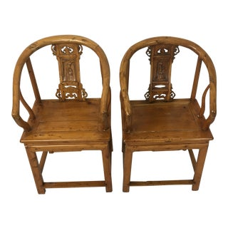Hand Crafted Wooden Chairs - A Pair