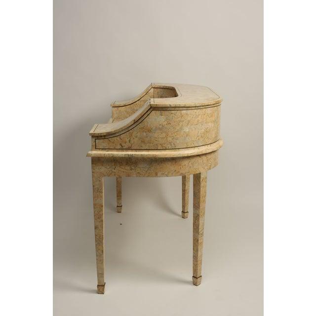 Antique Peach Marble Desk - Image 3 of 5