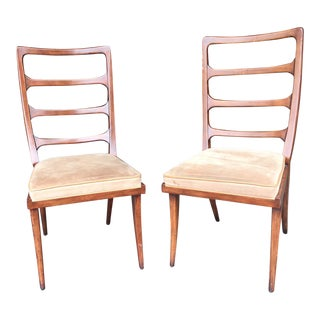 Keno Bros. for Theodore Alexander Mid-Century Ladderback Chairs - a Pair