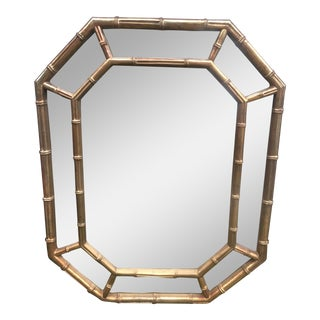 Hollywood Regency Style Faux Bamboo Wall Mirror