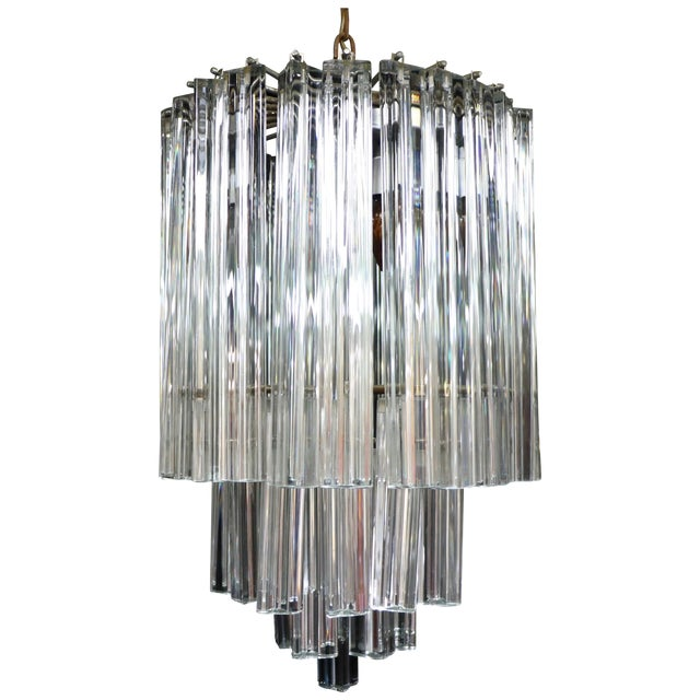 Image of Italian Venini Glass Chandelier