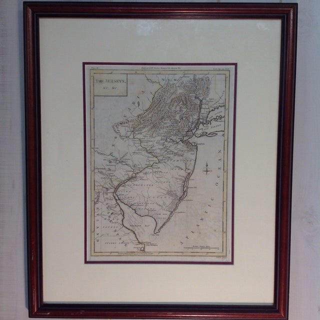 """1788 """"The Jerseys"""" Hand Colored Engraved Map - Image 2 of 10"""