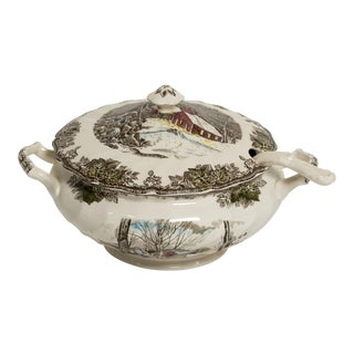 Soup Tureen Friendly Village Set by Johnson Brothers