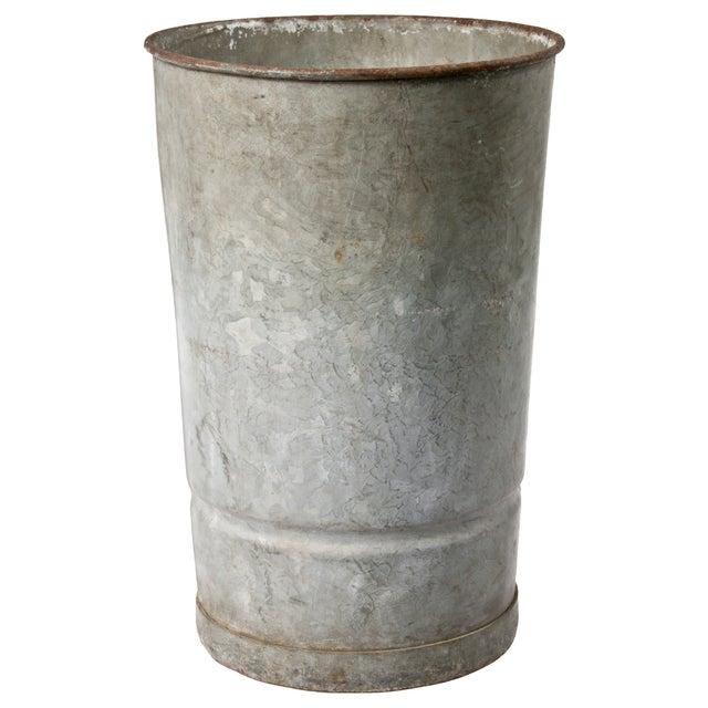 Galvanized Zinc Flower Bucket - Image 1 of 2
