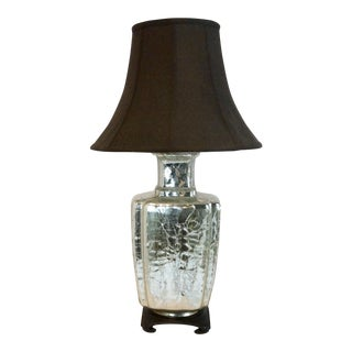 Vintage Mid-Century Era Silver Mercury Glass Lamp
