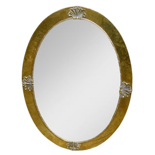 Liberty & Co. Attr. Brass Oval Mirror
