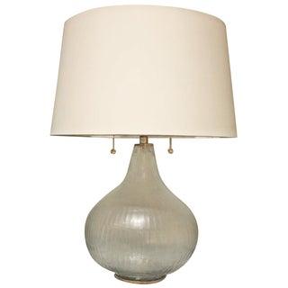 Harlan Glass & Brass Table Lamp