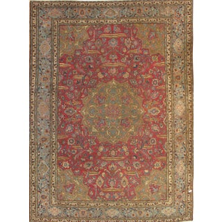 "Pasargad NY Antique Persian Tabriz Lamb's Wool Rug - 8'4"" x 11'9"""
