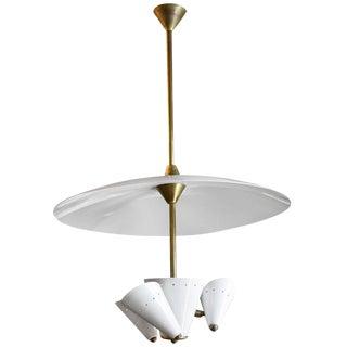 Italian Three-Light Chandelier Attributed to Arredoluce
