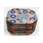 Image of Blue & Poppy Floral Plates - Set of 10
