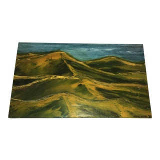 1971 Landscape Oil Painting by Eugene Waddell
