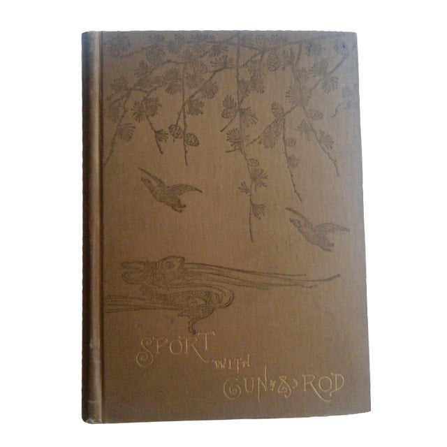 Image of Sport With Gun & Rod in Woods & Water Antique Book