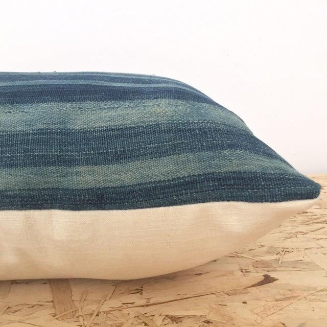 Indigo Cloth Lumbar Pillow - Image 4 of 5