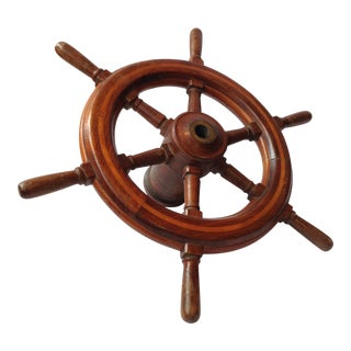 Authentic Vintage Ship Wheel