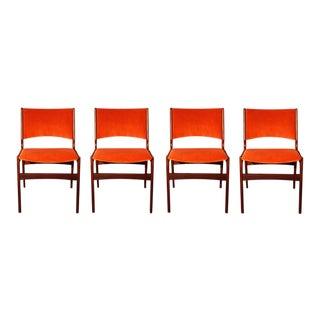 Arne Vodder Style Teak Side Chairs - Set of 4