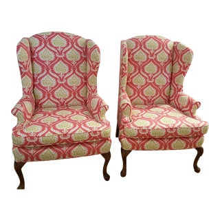 Artichoke Wingback Chairs - A Pair