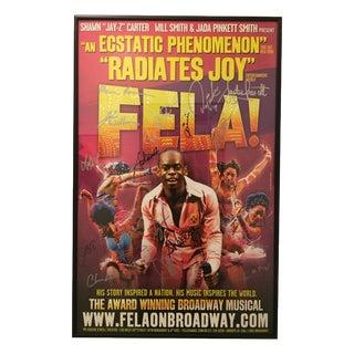 Fela! Framed Poster Signed by Orig. Broadway Cast