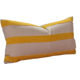 Custom Yellow Striped Throw Pillow