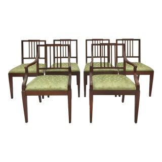 Hepplewhite Sheraton Style Dining Chairs - Set of 6