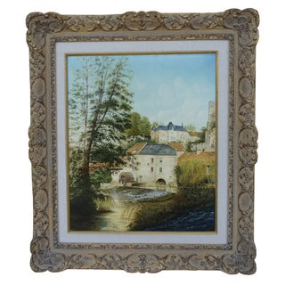 20th-Century French Scenic Oil Painting