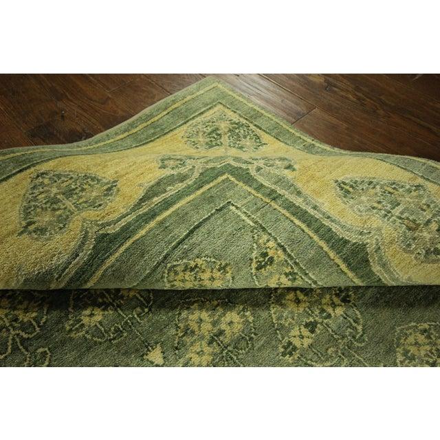 "Green Chobi Gabbeh Oriental Rug - 6'1"" x 9'3"" - Image 9 of 10"
