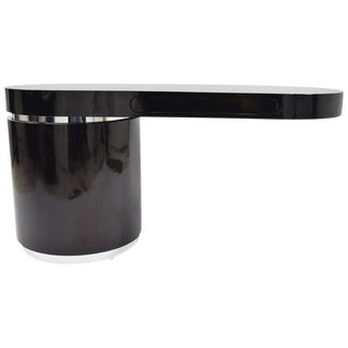 "Wade Beam For Brueton ""Ponte"" Desk in High-Gloss Black"