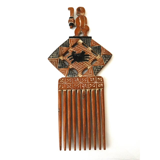 Large Hand Carved African Wedding Comb - Image 3 of 6