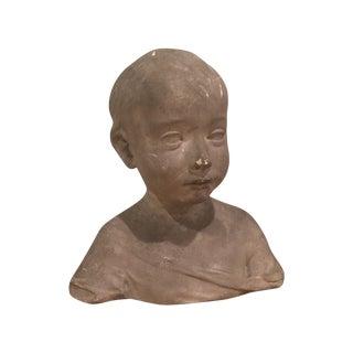 Plaster Child Bust