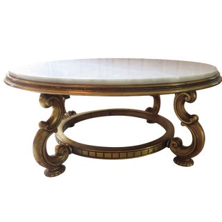 Italian Gold & Marble Coffee Table