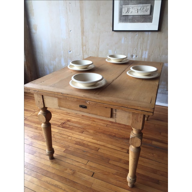 Rustic Italian Antique Dining Table - Image 6 of 9