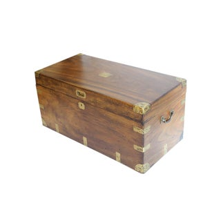 Early Victorian Camphor Wood Trunk c. 1850s