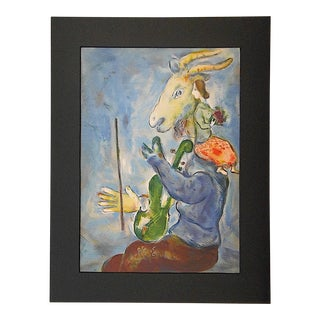 "Vintage Chagall Lithograph ""Spring"" from Verve, Paris 1939"