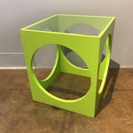 Image of Adrian Pearsall Lime Green Cube Table
