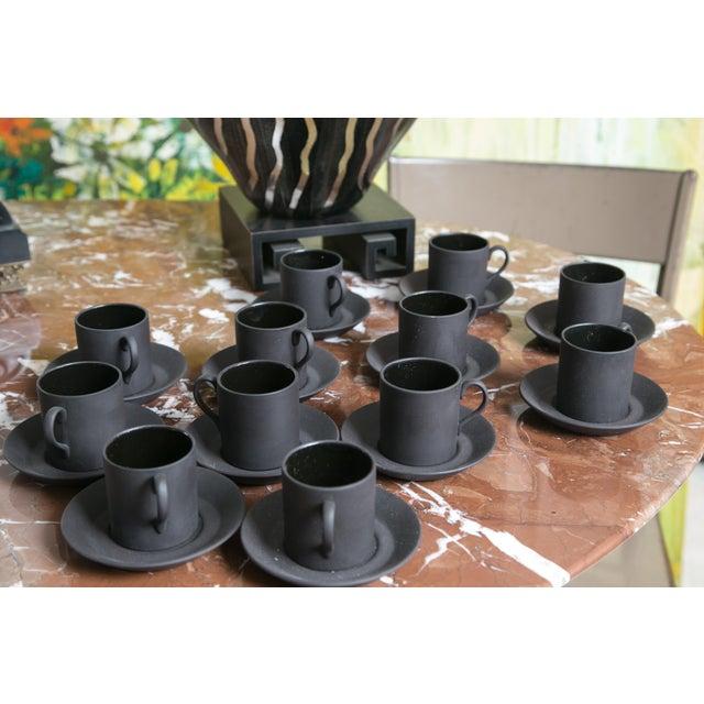 Wedgewood Basalt Demitasse Cups & Saucers-12 - Image 2 of 3