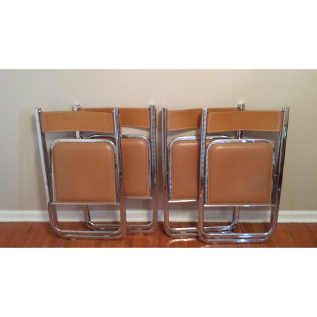 Arrben Italian Leather & Chrome Chairs - Set of 4 - Image 7 of 10