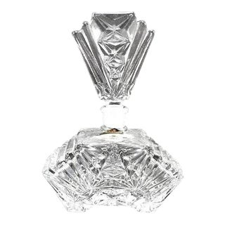 Art Deco Crystal Perfume Bottle Pompadour