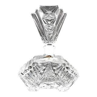 Art Deco Crystal Perfume Bottle Pompadour