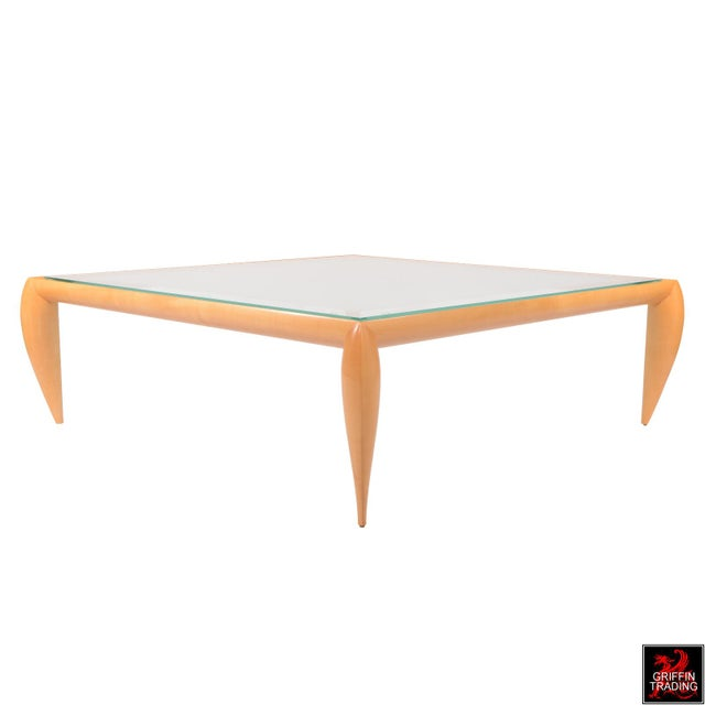 Leggins Square Glass Top Coffee Table by Brueton - Image 2 of 7