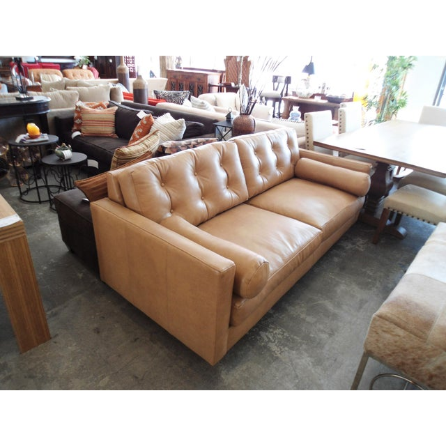 Modern Mocha Leather Sofa - Image 2 of 7