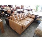 Image of Modern Mocha Leather Sofa