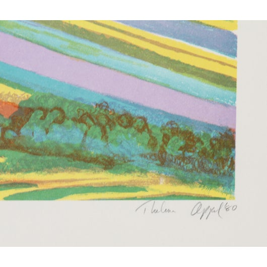 """Thelma Appel, """"New Seven North,"""" Serigraph - Image 2 of 2"""