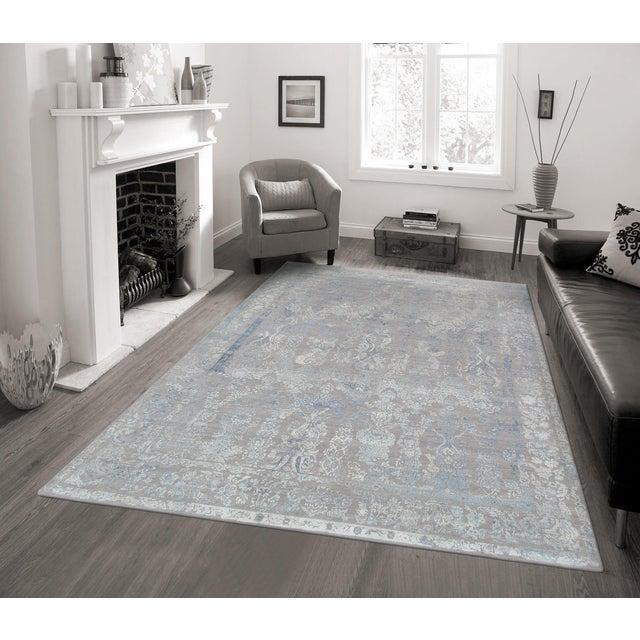 "Pasargad Transitiona Silk & Wool Rug- 8'11"" x 12' - Image 4 of 4"