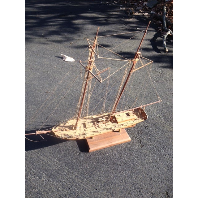 Wood Model Boat - Image 8 of 10