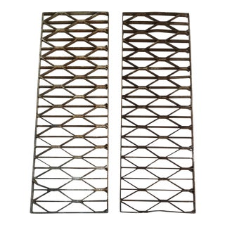 Architectural Metal Steel Grates - A Pair