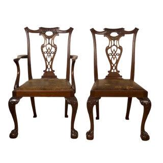 18th Century Irish Walnut Dining Chairs - Set of 8